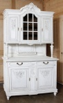 bufet dapur putih antik