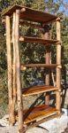 Dekorasi rak hias kayu