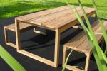 set kursi makan outdoor bangku jati by ud kayu mebel