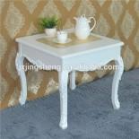 Meja Sudut Ukir Putih Duco Chinese