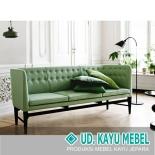 Sofa Tamu Santai Hijau Daun 3 Dudukan