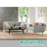 Sofa Set Modern Kayu Jati Natural